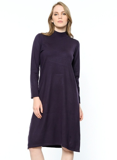 Butik Triko Boğazlı Tunik Elbise